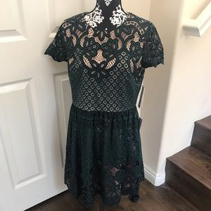 NWT Eliza J Emerald Green Lace Dress